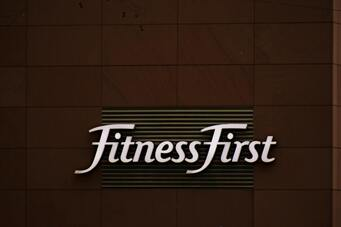 Front desk sign for fitness club in NJ