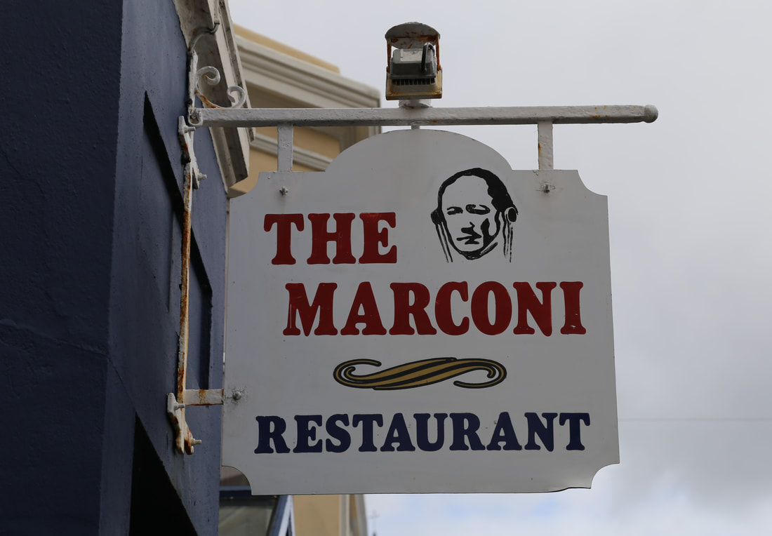 Attached sign from the marconi restaurant, NJ